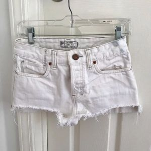 free people whote sharkbite jean shorts